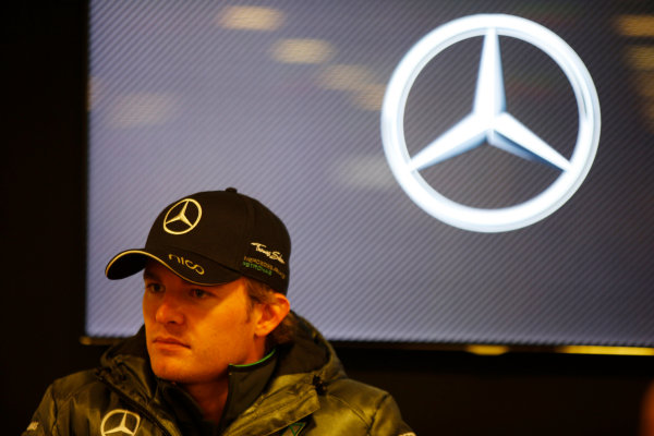 Spa-Francorchamps, Spa, Belgium. Saturday 23 August 2014. Nico Rosberg, Mercedes AMG, at a Mercedes Press Conference. World Copyright: Charles Coates/LAT Photographic. ref: Digital Image _J5R1205
