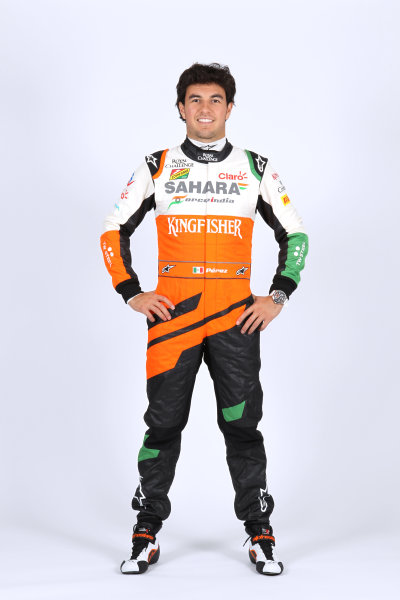 Force India VJM07 Online Launch Images 23 January 2014 Sergio Perez, Force India Photo: Force India (Copyright Free FOR EDITORIAL USE ONLY) ref: Digital Image jm1423ja43