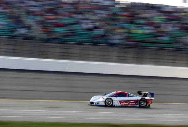 16-17 August, 2013, Kansas City, Kansas USA The #5 Corvette DP of Joao Barbosa and Christian Fittipaldi is shown at speed. ©2013, R.D. Ethan LAT Photo USA