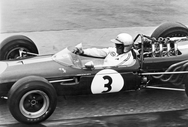 1966 German Grand Prix.Nurburgring, Germany. 7 August 1966.Jack Brabham, Brabham BT19-Repco, 1st position, action.World Copyright: LAT PhotographicRef: L66/533/25A