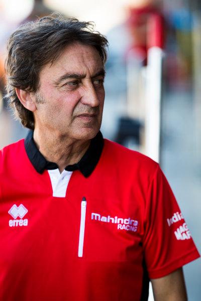 2017/2018 FIA Formula E Championship. Official Test - Valencia, Spain Monday 2 October 2017. Adrian Campos - Mahindra  Photo: Sam Bloxham/LAT/Formula E ref: Digital Image _J6I8989