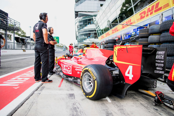 2017 FIA Formula 2 Round 9. Autodromo Nazionale di Monza, Monza, Italy. Friday 1 September 2017. Gustav Malja (SWE, Racing Engineering).  Photo: Zak Mauger/FIA Formula 2. ref: Digital Image _56I6464