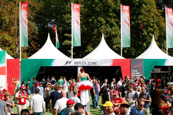 Autodromo Nazionale di Monza, Italy. Friday 01 September 2017. The atmosphere in the F1 Fanzone. World Copyright: Andy Hone/LAT Images  ref: Digital Image _ONY5889