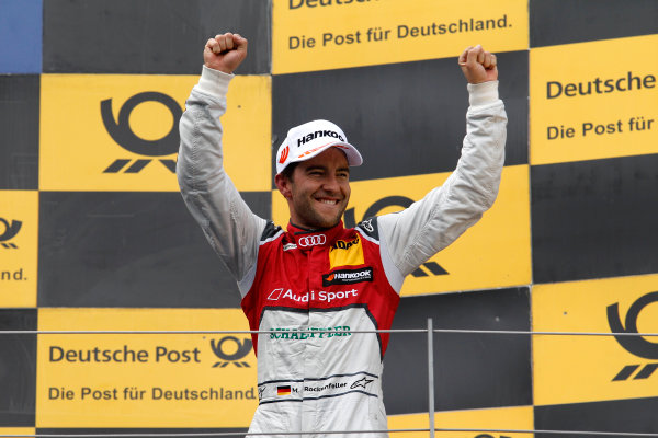 2017 DTM Round 8  Red Bull Ring, Spielberg, Austria  Sunday 24 September 2017. Podium: second place Mike Rockenfeller, Audi Sport Team Phoenix, Audi RS 5 DTM  World Copyright: Alexander Trienitz/LAT Images ref: Digital Image 2017-DTM-RBR-AT3-2721