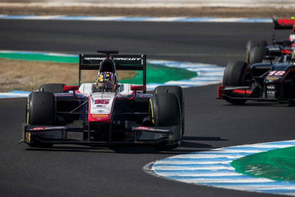 2017 FIA Formula 2 Round 10. Circuito de Jerez, Jerez, Spain. Saturday 7 October 2017. Nabil Jeffri (MAS, Trident).  Photo: Andrew Ferraro/FIA Formula 2. ref: Digital Image _FER1757