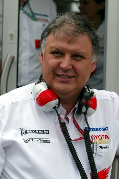 Norbert Kreyer (GER) Toyota Senior General Manager of Race and Test EngineeringFormula One World Championship, Rd9, European Grand Prix, Nurburgring, Germany, 27 June 2003.DIGITAL IMAGE