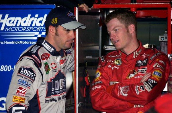 2003 NASCAR-Phoenix Intnl. Speedway,USA,Oct 31-Nov 2Jimmie Johnson and Dale Earnhardt jr.-Robert LeSieur 2003LAT Photographic