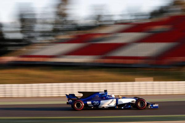 Circuit de Barcelona Catalunya, Barcelona, Spain. Thursday 02 March 2017. Antonio Giovinazzi, Sauber C36 Ferrari. World Copyright: Glenn Dunbar/LAT Images ref: Digital Image _31I3406