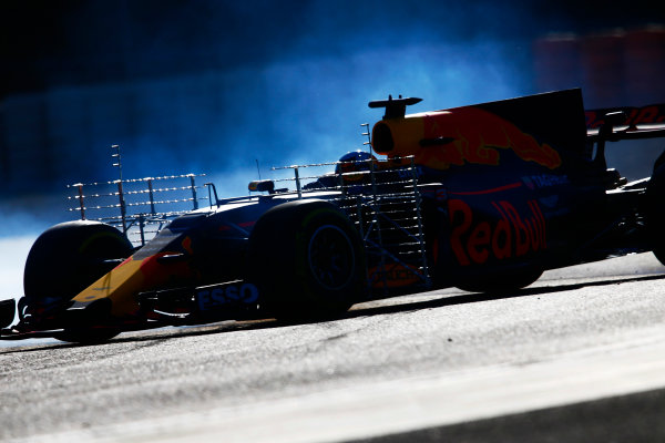 Circuit de Barcelona Catalunya, Barcelona, Spain. Tuesday 07 March 2017. Daniel Ricciardo, Red Bull Racing RB13 TAG Heuer. World Copyright: Zak Mauger/LAT Images ref: Digital Image _X0W5955