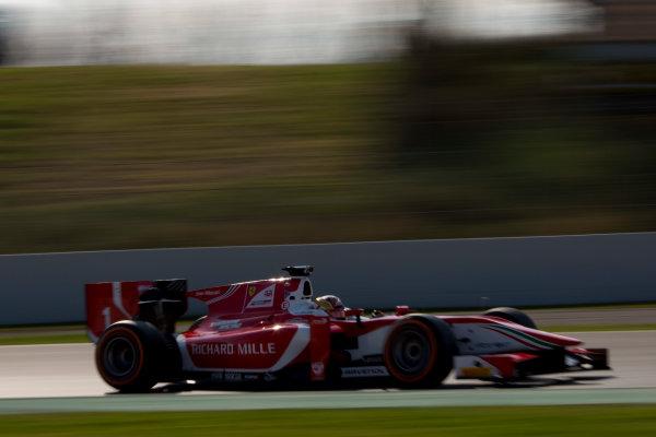 Circuit de Barcelona Catalunya, Barcelona, Spain. Monday 13 March 2017. Charles Leclerc (MON, PREMA Racing). Action.  Photo: Alastair Staley/FIA Formula 2 ref: Digital Image 580A9956