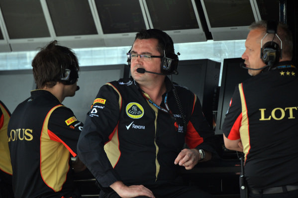 Eric Boullier (FRA) Lotus F1 Team Principal. Formula One World Championship, Rd9, German Grand Prix, Qualifying, Nurburgring, Germany, Saturday 6 July 2013.