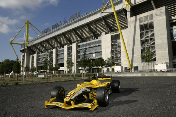 2007 Superleague Formula ChampionshipDortmund, Germany. 20th - 21st July 2007Borussia Dortmund's Superleague Formula entry outside the club's home ground at Signal Iduna Park in Dortmund.Copyright Free: EDITORIAL USE ONLY