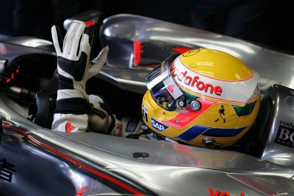 2007 Italian Grand Prix - Saturday QualifyingAutodromo di Monza, Monza, Italy.8th September 2007.Lewis Hamilton, McLaren MP4-22 Mercedes. Portrait. Helmets. World Copyright: Steven Tee/LAT Photographicref: Digital Image YY2Z8433