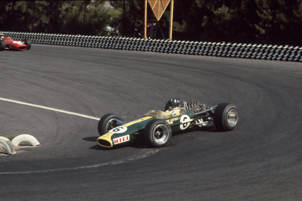 Mexico City, Mexico. 20 - 22 October 1967.  Graham Hill (Lotus 49 Ford).  Ref: 67MEX11. World Copyright: LAT Photographic