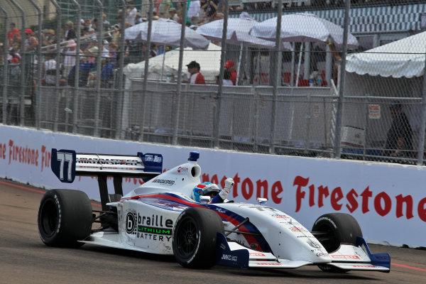 23-24 March, 2012, St Petersburg, Florida USATristan Vautier celebrates his victory.(c)2012, Phillip AbbottLAT Photo USA