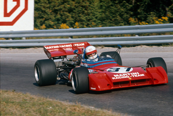 Mosport Park, Canada. 24th September 1972.Derek Bell (Tecno PA123/3), DNS, action. World Copyright: LAT Photographic.Ref:  72CAN