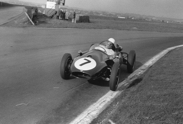 Aintree, England. 19th April 1958.Stirling Moss (Cooper-Climax T45), 1st position, action.World Copyright: LAT Photographic