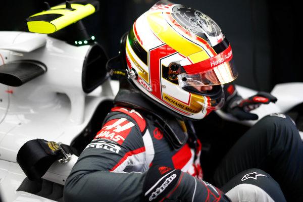 Interlagos, Sao Paulo, Brazil. Friday 11 November 2016. Charles Leclerc, Test and Reserve Driver, Haas F1. World Copyright: Hone/LAT Photographic ref: Digital Image _ONZ4650