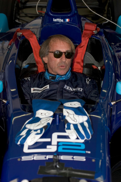 2005 GP2 Series Press DayPaul Ricard, FranceJacques Laffite (FRA)prepares to drive the GP2 car for the first time 28th June 2005World copyright: GP2 SeriesHi-Res Available