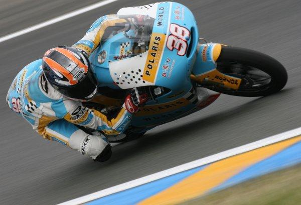 2008 MotoGP Championship.Le Mans, France. 15th - 18th May, 2008.Bradley Smith Polaris World Aprilia 125cc 2nd Fastest First Qualifying.World Copyright: Martin Heath / LAT Photographic
