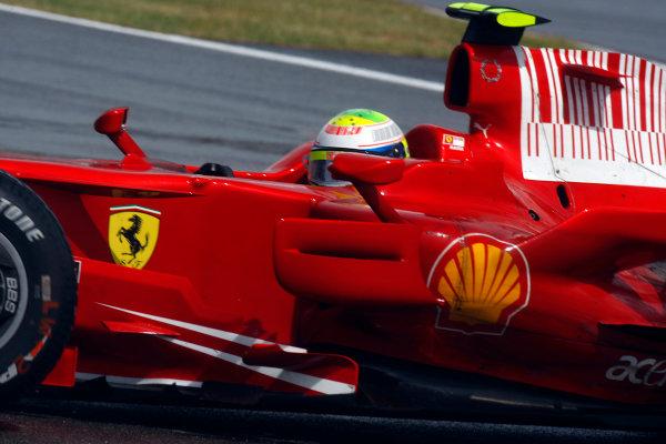 Silverstone, Northamptonshire, UK.6th July 2008.Felipe Massa, Ferrari F2008, 13th position. Action. World Copyright: Glenn Dunbar/LAT Photographic.ref: Digital Image _O9T7181