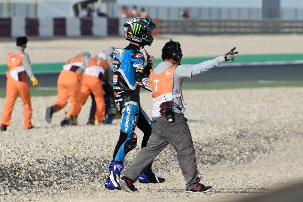 Alonso Lopez, Estrella Galicia 0,0 after the crash.