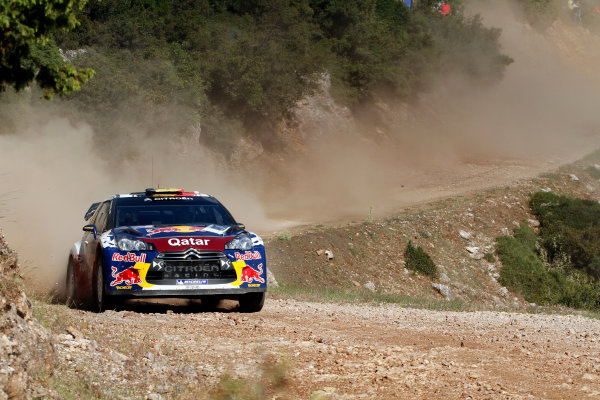 Round 06 - Rally Acropolis, Greece. 24-27 May 2012. Thierry Neuville, Citroen WRC, Action.  Worldwide Copyright: McKlein/LAT