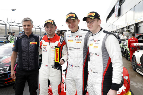 Pole sitter #31 Frikadelli Racing Team Porsche 911 GT3 R: Dennis Olsen, Mathieu Jaminet, Nick Tandy.