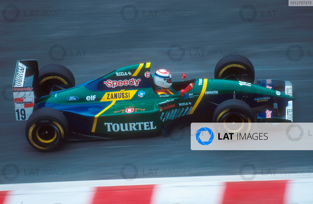 1994 Belgian Grand Prix.Spa-Francorchamps, Belgian.26-28 August 1994.Philippe Alliot (Larrousse LH94 Ford). He exited the race with an engine failure. This was his last Grand Prix.Ref-94 BEL 17.World Copyright - LAT Photographic
