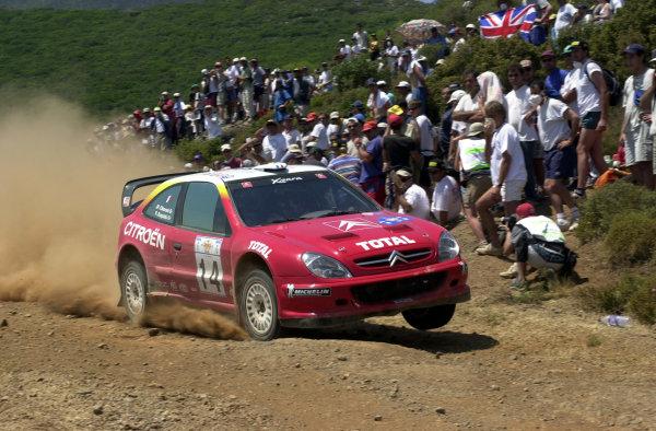 2001 World Rally Championship.Acropolis Rally June 14-17, 2001.Philippe Bugalski on stage 16.Photo: Ralph Hardwick/LAT
