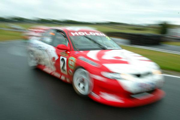 2002 Australian V8 SupercarsPhillip Island, Australia. 14th April 2002.Holden drice Jason Bright in action during the wet qualifying.World Copyright: Mark Horsburgh/LAT Photographicref: Digital Image Only