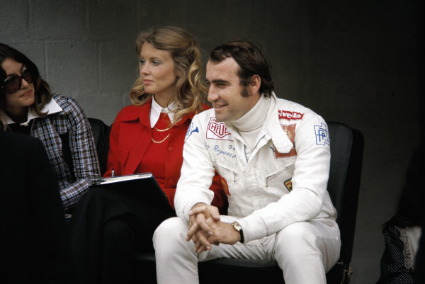 Clay Regazzoni with Barbro Peterson, wife of Ronnie.