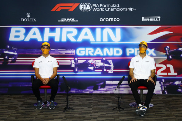 Lando Norris, McLaren and Daniel Ricciardo, McLaren in the Press Conference