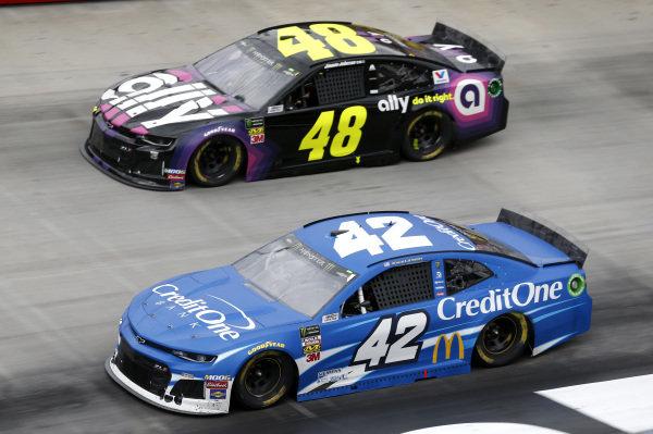 #42: Kyle Larson, Chip Ganassi Racing, Chevrolet Camaro Credit One Bank #48: Jimmie Johnson, Hendrick Motorsports, Chevrolet Camaro Ally