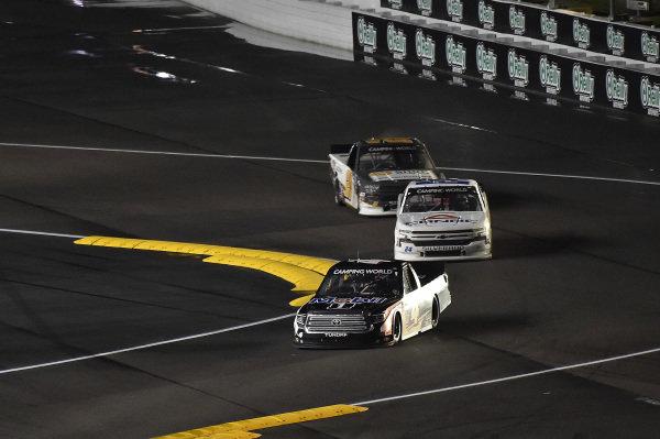 #4: John Hunter Nemechek, Kyle Busch Motorsports, Toyota Tundra Mobil 1 and #2: Sheldon Creed, GMS Racing, Chevrolet Silverado