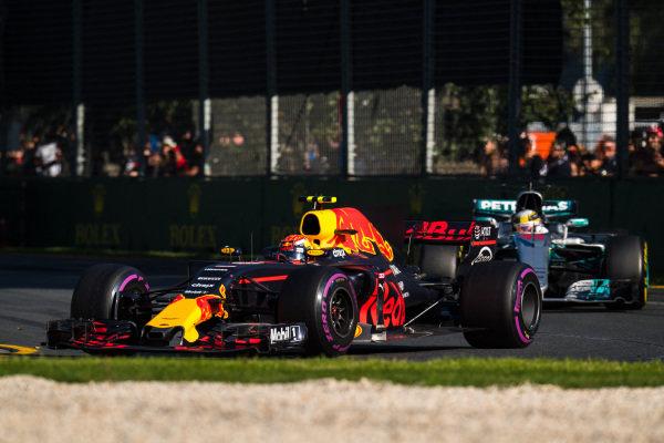 Max Verstappen (NED) Red Bull Racing RB13 at Formula One World Championship, Rd1, Australian Grand Prix, Race, Albert Park, Melbourne, Australia, Sunday 26 March 2017.