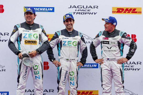 Left to right: Cacá Bueno (BRA), Jaguar Brazil Racing, Sérgio Jimenez (BRA), Jaguar Brazil Racing, and Simon Evans (NZL), Team Asia New Zealand