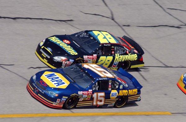 2002 NASCAR,Talladga Superpeedway,Ala. Oct. 3-6, 2002 USA -Ricky Rudd races Michael Waltrip,Copyright-Robt LeSieur2002LAT Photographic