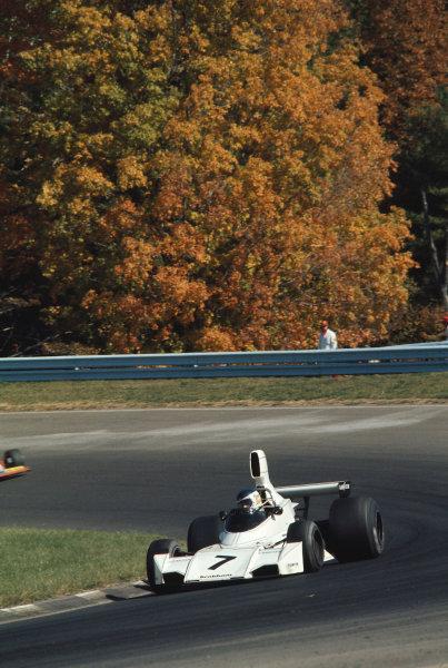 1974 United States Grand Prix.Watkins Glen, New York, USA.4-6 October 1974.Carlos Reutemann (Brabham BT44 Ford) 1st position.Ref-74 USA 12.World Copyright - LAT Photographic