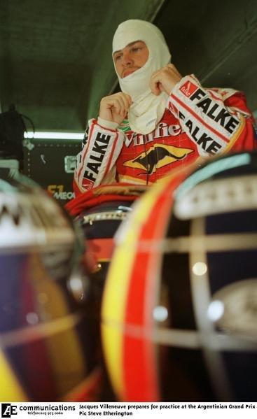 1998 Argentinian Grand Prix.Buenos Aires, Argentina.10-12 April 1998.Jacques Villeneuve (Williams Mecachrome).World Copyright - Steve Etherington/LAT Photographic