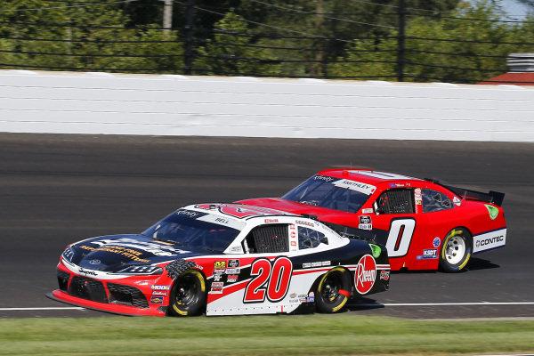 #20: Christopher Bell, Joe Gibbs Racing, Toyota Supra Rheem-Parker Hannifin and #0: Garrett Smithley, JD Motorsports, Chevrolet Camaro teamjdmotorsports.com