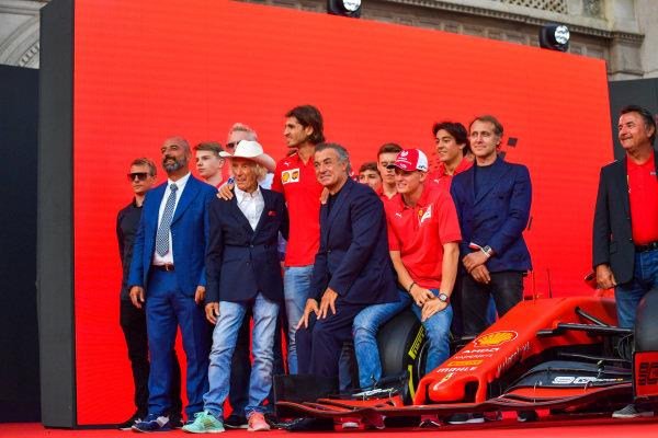 Kimi Räikkönen, Alfa Romeo, Ivan Capelli, Arturo Merzario, Antonio Giovinazzi, Jean Alesi, Mick Schumacher, Luca Badoer, and René Arnoux