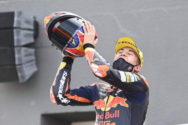 Race winner Raul Fernandez, Red Bull KTM Ajo.