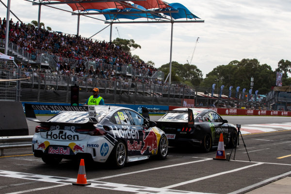 Cameron Waters, Tickford Racing Ford, Shane van Gisbergen, Triple Eight Race Engineering Holden