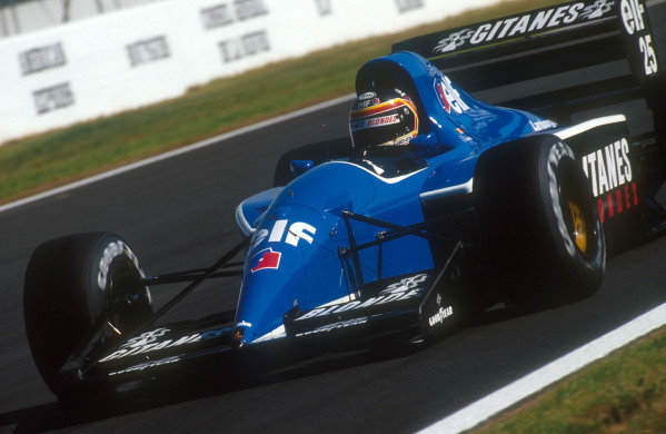 1991 French Grand Prix.Magny-Cours, France.5-7 July 1991.Thierry Boutsen (Ligier JS35B Lamborghini) 12th position.Ref-91 FRA 02.World Copyright - LAT Photographic