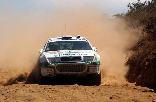2002 World Rally Championship.Safari Rally, Nairobi Kenya, July 11-14th.Roman Kresta on section 11.Photo: Ralph Hardwick/LAT