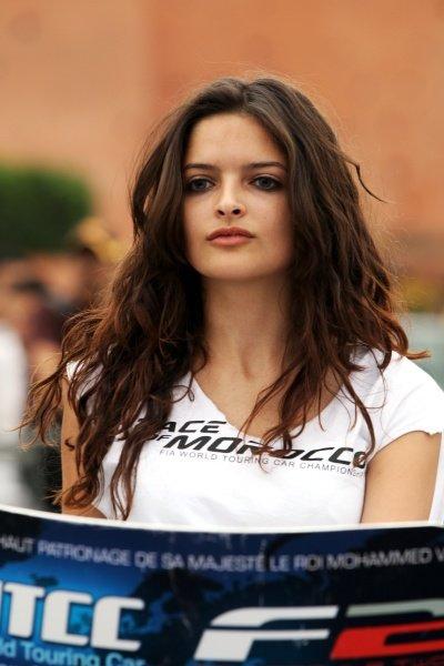 Girl. FIA Formula Two Championship, Rd2,  Marrakech, Morocco. Thursday 29 April 2010