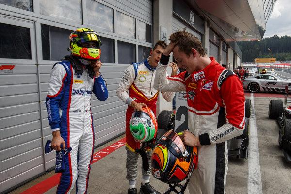 Alessio Lorandi (ITA, Trident), Leonardo Pulcini (ITA, Campos Racing), Callum Ilott (GBR, ART Grand Prix)