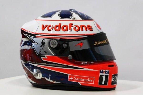 The helmet of Gary Paffett (GBR) McLaren Test Driver. McLaren MP4-27 Launch, McLaren Technology Centre, Woking, England, 1 February 2012.