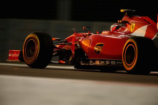 Yas Marina Circuit, Abu Dhabi, United Arab Emirates. Saturday 28 November 2015. Kimi Raikkonen, Ferrari SF15-T.  World Copyright: Glenn Dunbar/LAT Photographic ref: Digital Image _89P0646
